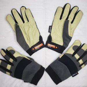TWO pair Mechpro Waterproof Gloves MEDIUM